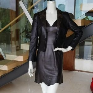 Black laser etched tank dress and jacket